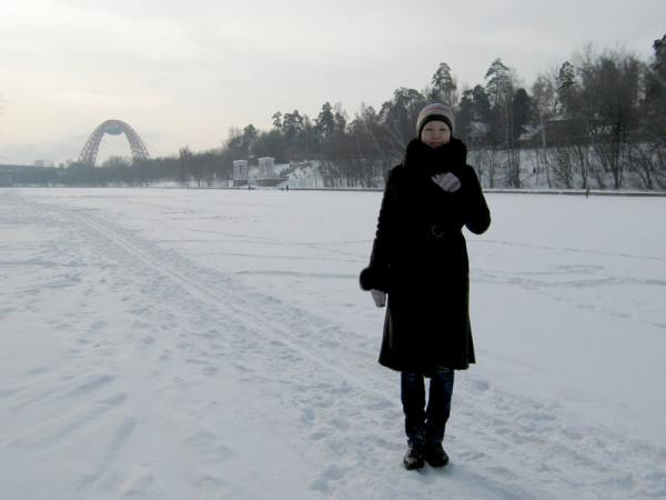 Виден мост в Крылатском